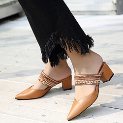 Slip-On Patchwork Low Heels