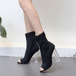 Fashion Peep Toe Hollow Chunky Heel Boots
