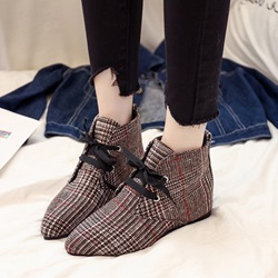 Block Heel Lace-Up Front Fashion Boots
