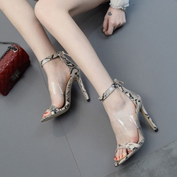 Jelly Serpentine High Stiletto Heel Sandals
