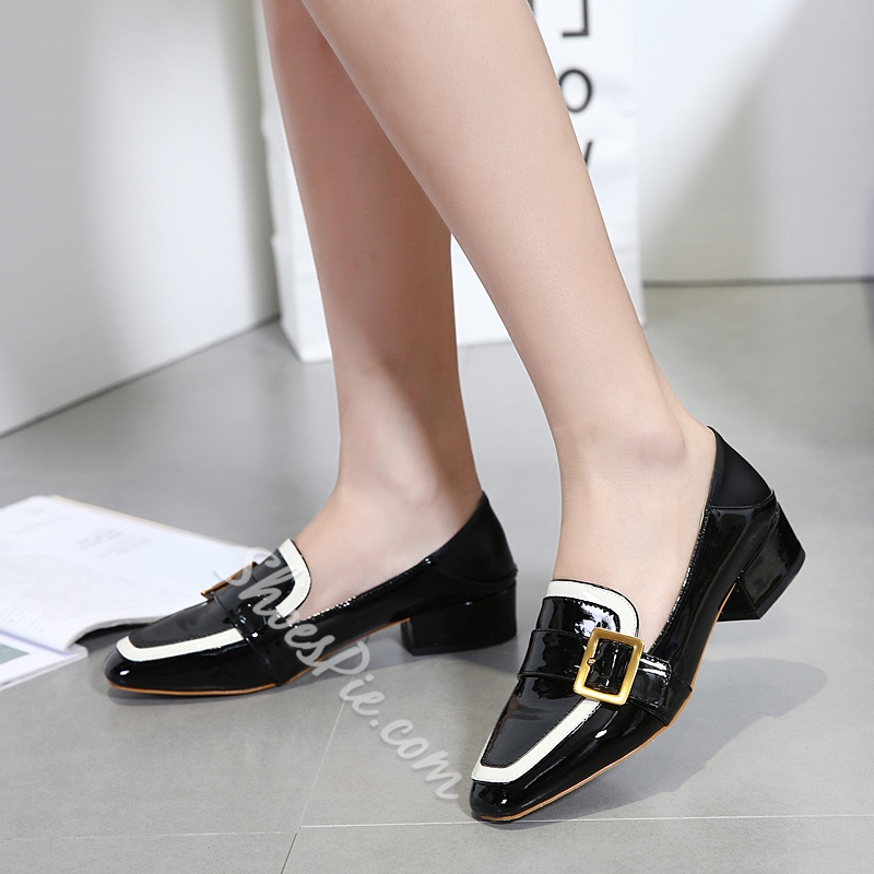 Casual Slip-On Buckle Women's Shoes