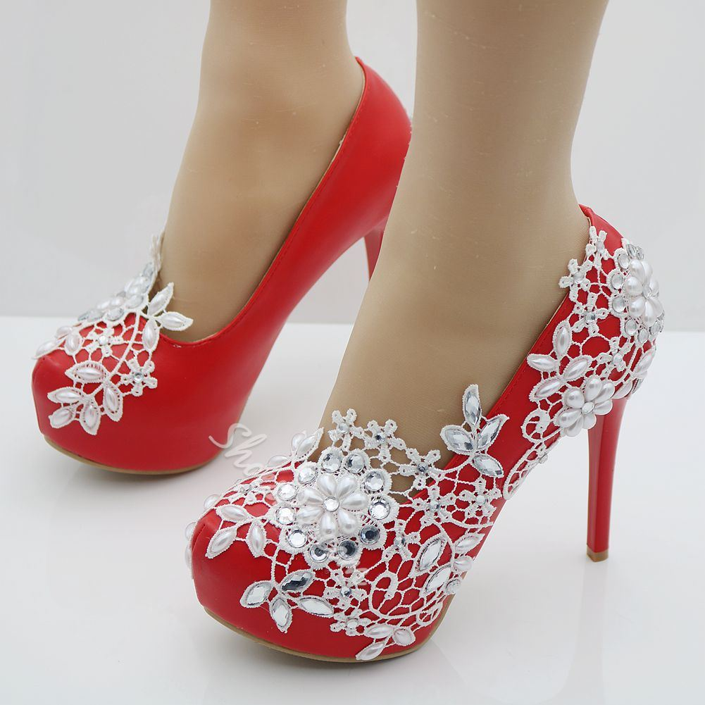 red rhinestone platform wedding shoes shoespiecom