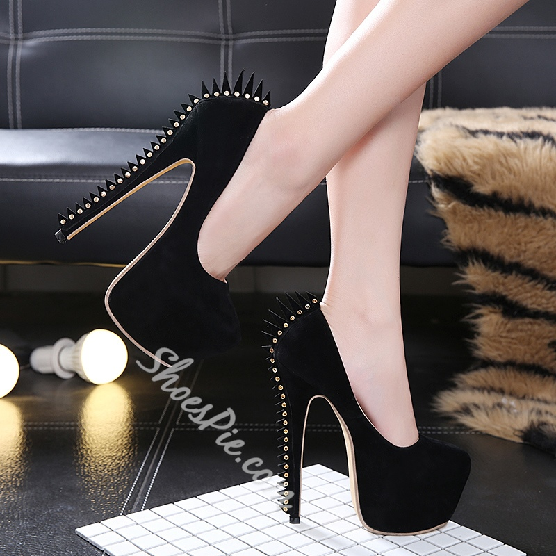 Rivet Sexy Platform High Stiletto Heels