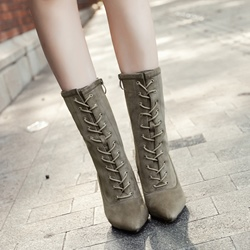 Fashion Cross Strap Stiletto Heel Boots