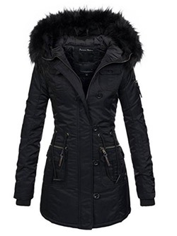 Regular Zipper Zipper Hooded Women's Overcoat