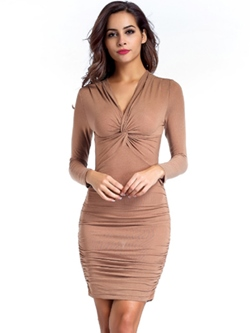 Above Knee V-Neck Bodycon Dresses