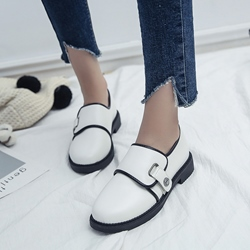 Casual Buckle Block Heel Women's Shoes