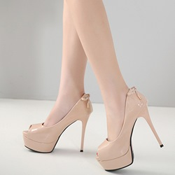Peep Toe Platform Bow Stiletto Heels