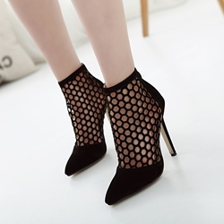 Sexy Black Hollow Stiletto Heel Boots