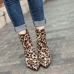 Sexy Leopard Stiletto Heel Boots