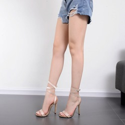 Ankle Strap Open Toe Stiletto Heel Sandals