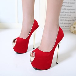 Peep-Toe Sexy High Stiletto Platform Heels