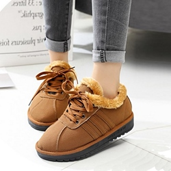 Solid Color Lace-Up Casual Women's Sneakers