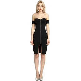 Sexy Slash Neck Asymmetric Bodycon Dresses