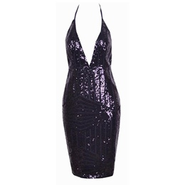 Backless Sequins Lace Bodycon Dresses
