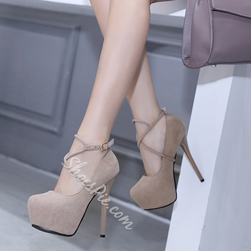 Sexy Platform Buckle Stiletto Heels