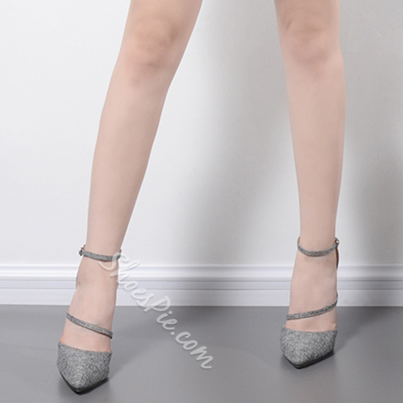 Line-Style Buckle Stiletto Heels