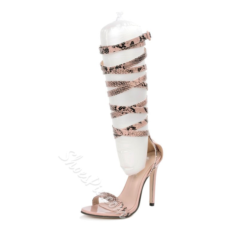 Sexy Serpentine Stiletto Heel Sandals