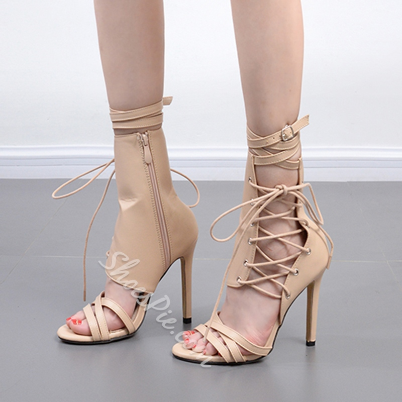 Cross Strap Buckle Stiletto Heels