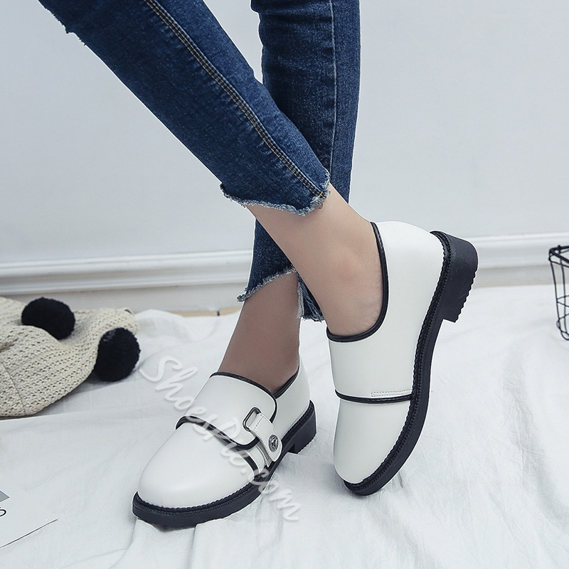Shoespie Casual Buckle Block Heel Women's Shoes