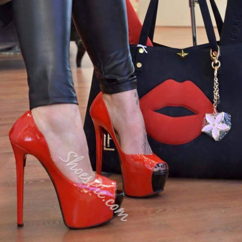 Red Sexy Extreme High Stiletto Heels