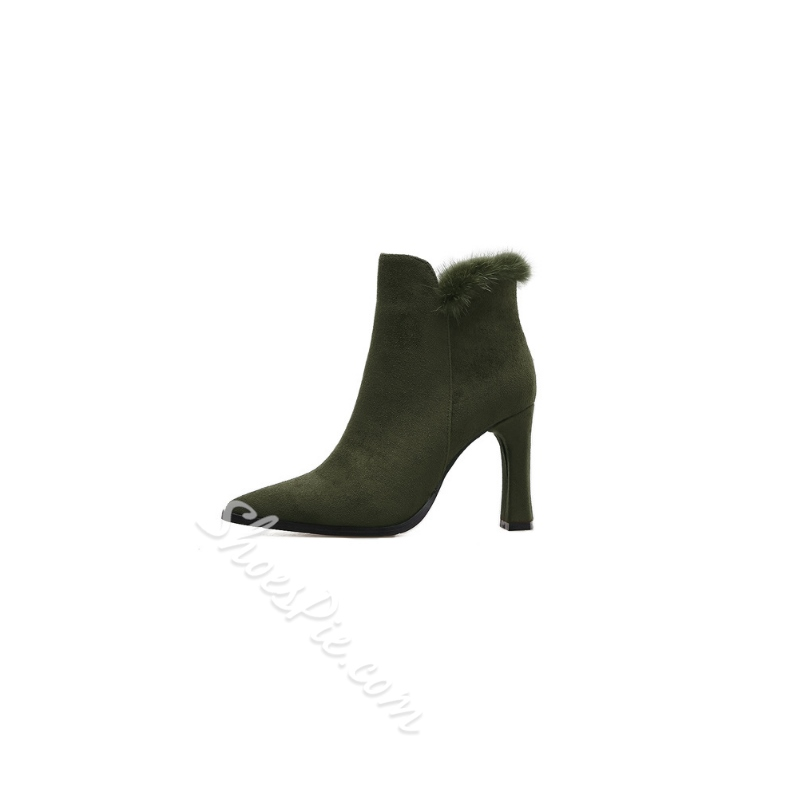 Winter Chunky Heel Women's Boots