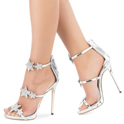 Rhinestone High Stiletto Heel Sandals