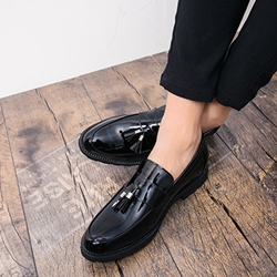 Shoespie Professional Black Slip-On Men's Loafers