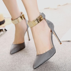 Solid Color Casual Stiletto Heels