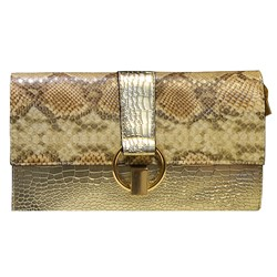 Shoespie Classic Serpentine Pattern Evening Clutch