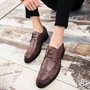 Round Toe Low-Cut Upper Lace-Up Men's Oxfords