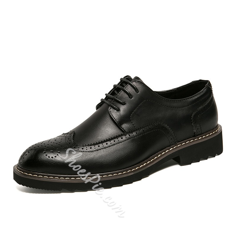 Casual Round Toe Lace-Up Men's Oxfords