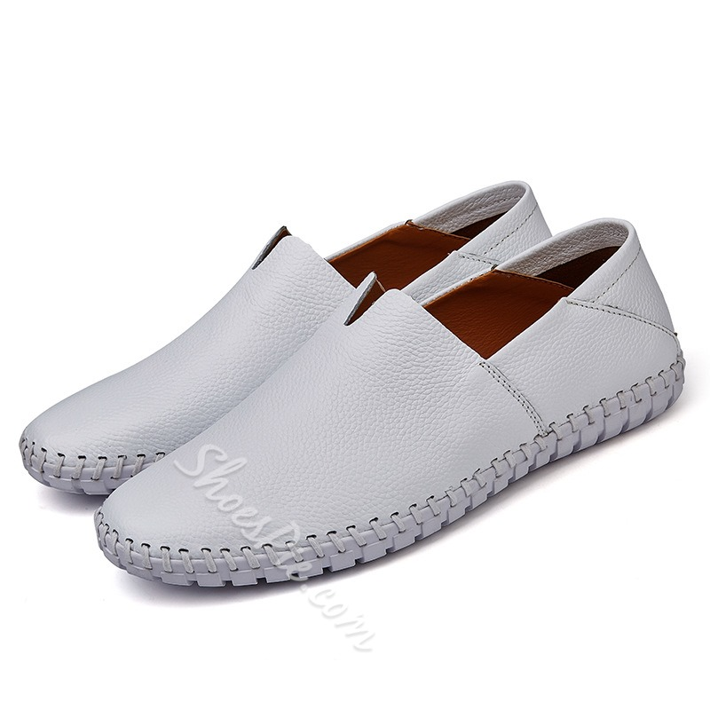 Multi-Color Slip-On Round Toe Men's Loafers