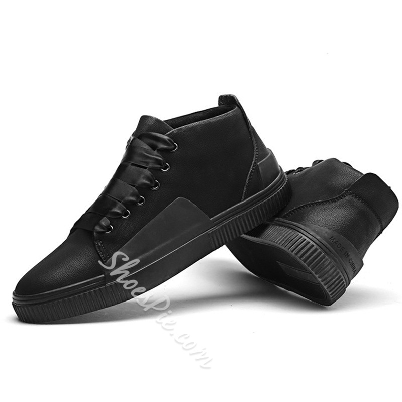 Round Toe Casual Lace-Up Sneakers For Men