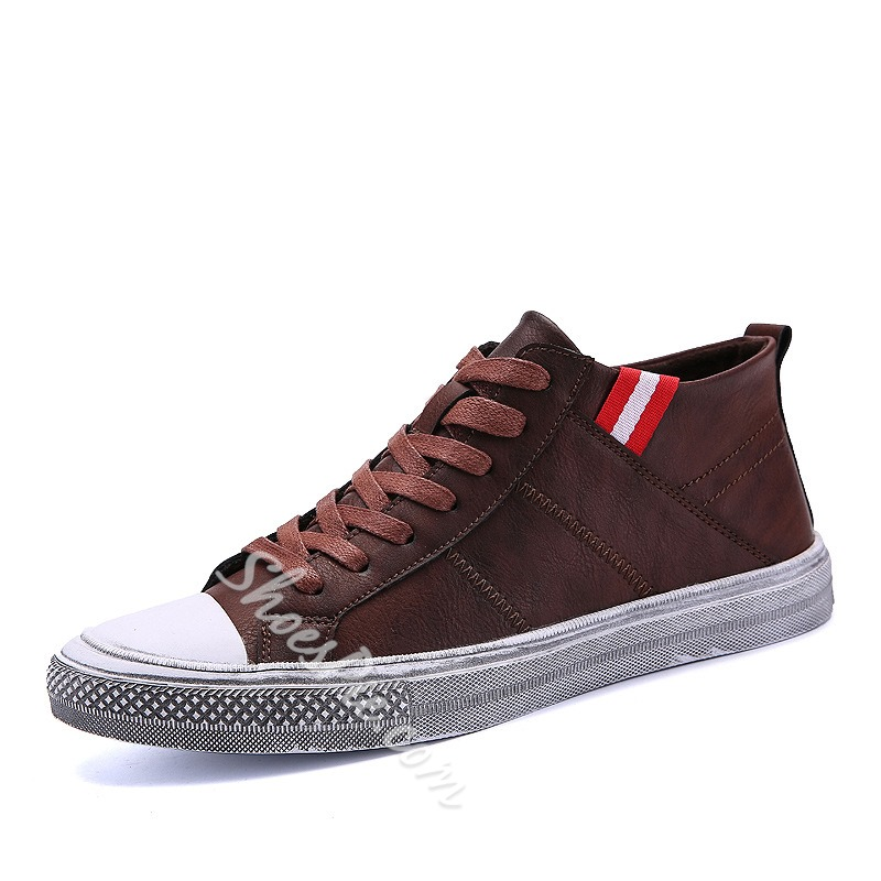 Casual Lace-Up Round Toe Men's Sneakers