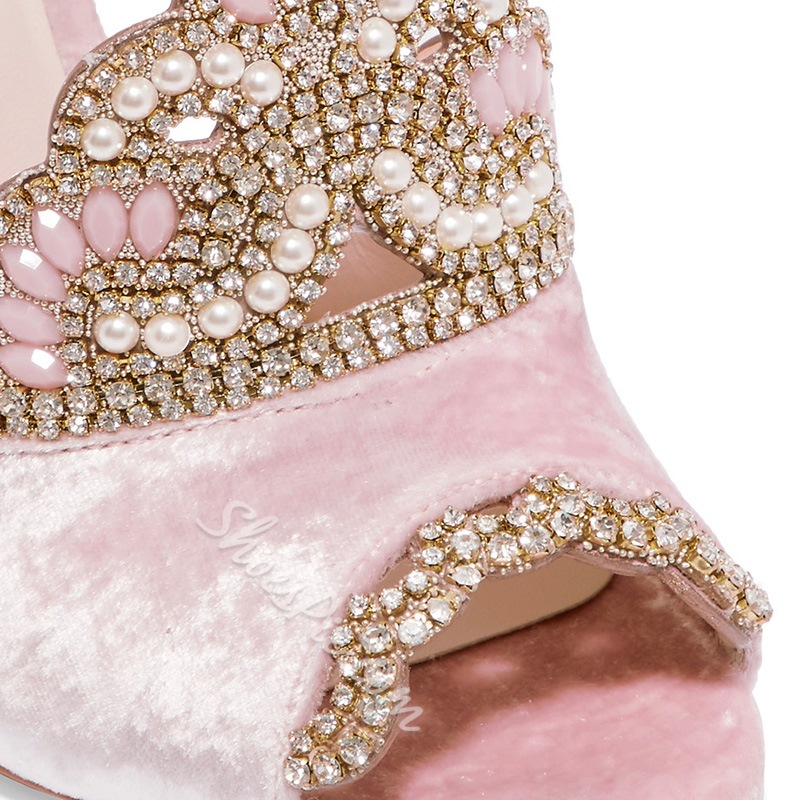 Rhinestone Line-Style Buckle Dress Sandals