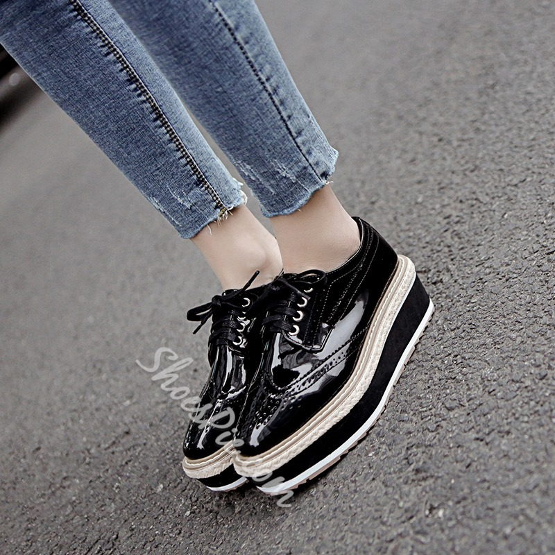 Black Casual Platform Women's Shoes