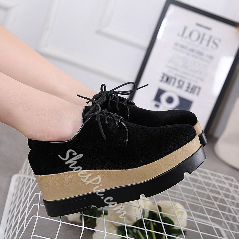 Platform Lace-Up Casual Women's Shoes