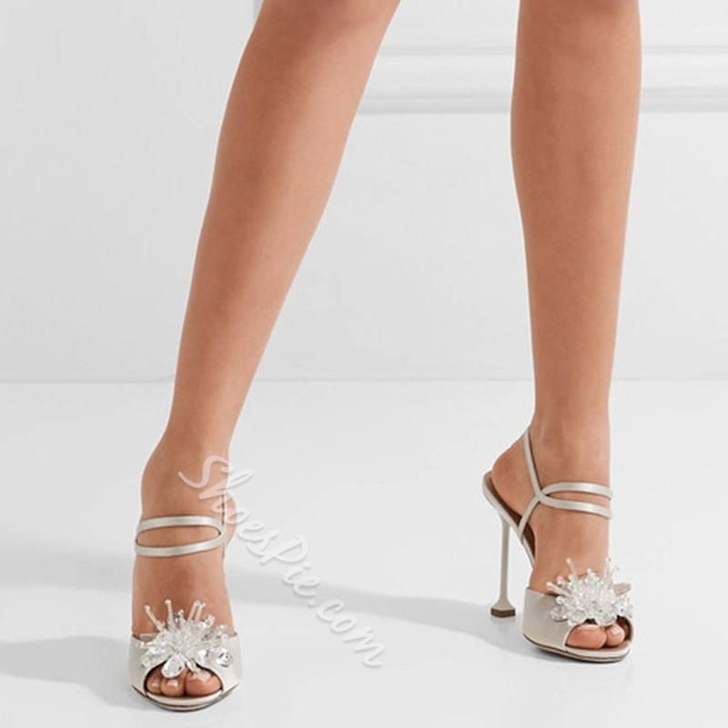 Rhinestone Stiletto Heel Wedding Shoes
