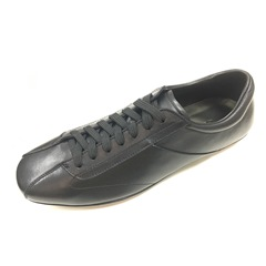 Lace-Up Leather Round Toe Men's Sneakers
