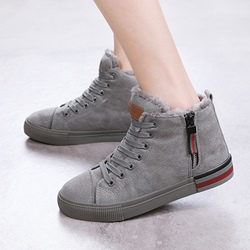 Solid Color Cross Strap Casual Women's Shoes