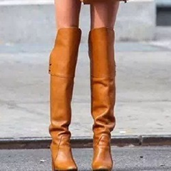 Stiletto Heel Fashion Slip-On Knee High Boots