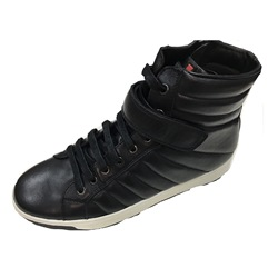 Casual Round Toe Leather Lace-Up Men's Sneakers