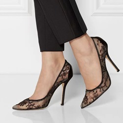 See-Through Pointed Toe Stiletto Heels