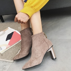 Casual Chunky Heel Square Toe Ankle Boots