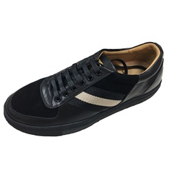 Casual Lace-Up Leather Round Toe Men's Sneakers
