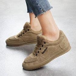 Short Floss Lace-Up Casual Women's Shoes