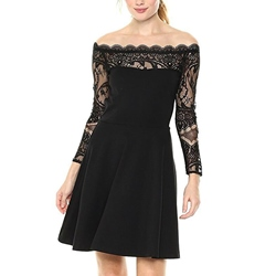 Off-The-Shoulder Slash Neck Lace Bodycon Dresses