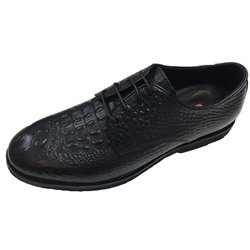 Embossed Leather Lace-Up Professional Men's Oxfords