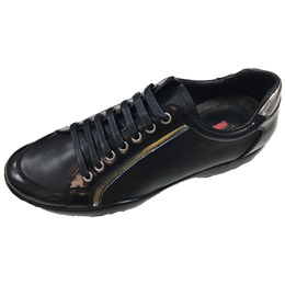 Lace-Up Casual Round Toe Leather Men's Sneakers